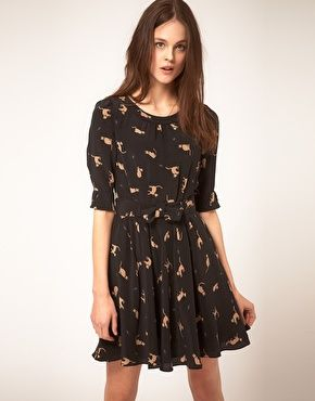 """Annabel Cat Print dress in silk"" £169. This dress was made for me clearly.. because It's named after me ;) So I don't understand why I don't have one!? :P"