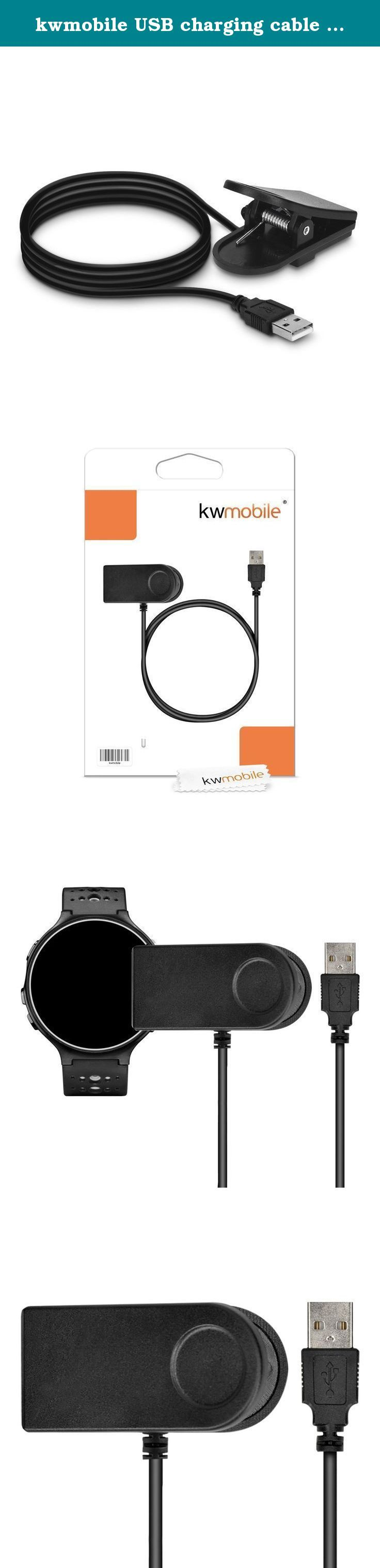 kwmobile USB charging cable for Garmin Forerunner 230 / 235 / 630 - replacement cable for sport armband in black. kwmobile offers its customers a huge range of accessories for mobile phones, tablets and laptops. From protective films and electronic accessories to gadgets; kwmobile supplies great products to satisfied customers already since 2012. Details THE CABLE TO GO: The kwmobile charging cable for your Garmin Forerunner 230 / 235 / 630 can be perfectly used as a replacement. It…