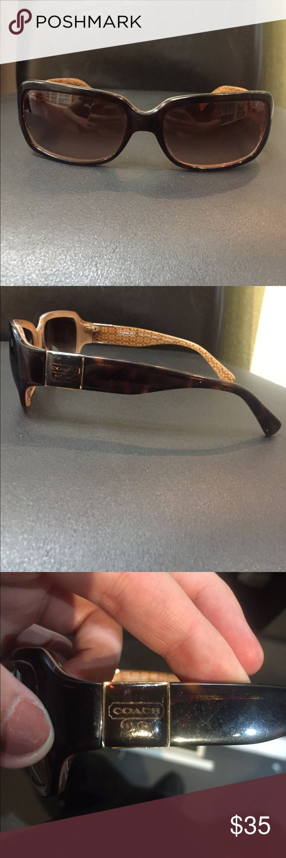 Vintage Coach sunglasses Vintage Coach sunglasses with verification code! Coach Accessories Glasses