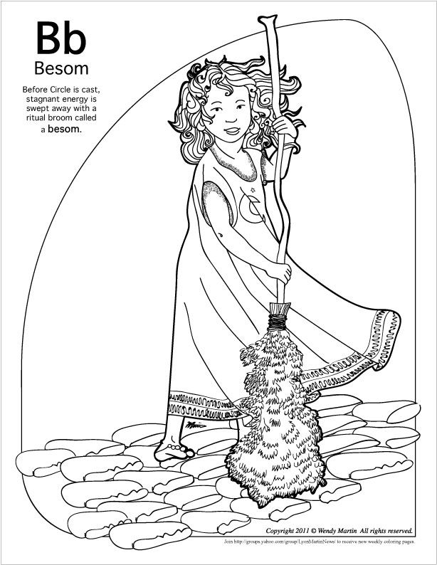 Challenger image with printable wiccan coloring pages