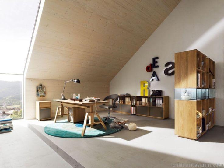 Doğal Ahşap; Modern Ev Ofisi Koleksiyonu