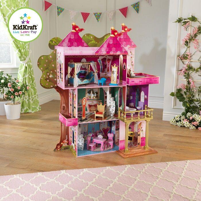 Замок-дом для кукол Winx и Ever After High Книга Сказок (Storybook) с мебелью