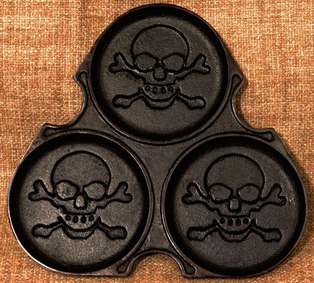 Gifts for Him: A Pirate Pancake Griddle That Makes Skull and Crossbones