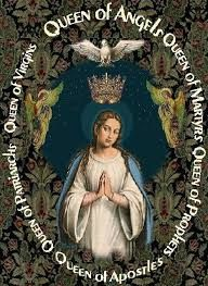 "Happy Feast Day of the Queenship of Mary – August 22 #pinterest #queenshipofmary Pius XII established this feast in 1954. But Mary's queenship has roots in Scripture. At the Annunciation, Gabriel announced that Mary's Son would receive the throne of David and rule forever. At the Visitation, Elizabeth calls Mary ""mother of my Lord."" As in all the mysteries of Mary's life, Mary is closely associated ............"