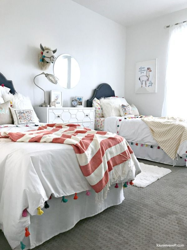 guest room with twin beds reveal with dhp kids bedroom decor and rh pinterest com