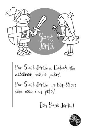 Petit poema de Sant Jordi _ Glòria Fort #printable #SantJordi #poema #poesia #pintar