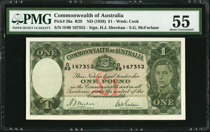 Australia Commonwealth of Australia £1 ND (1938) - 1