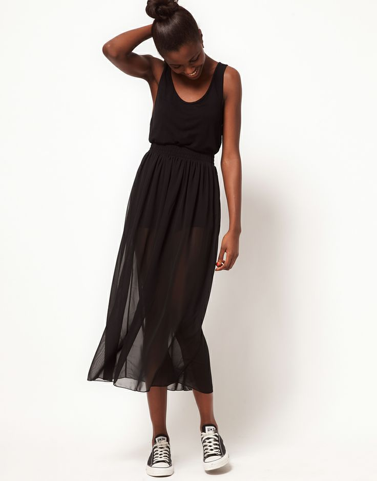 American Apparel Sheer Maxi Skirt