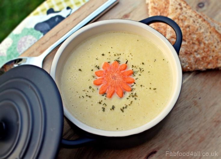 Cream of Leek, Potato and Carrot Soup is a family friendly, healthy and nutritious soup.
