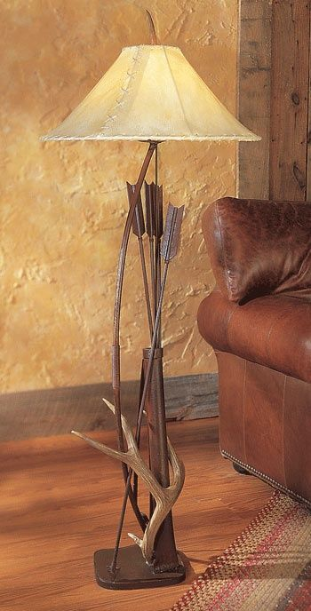 Bow and arrow lamp with antler http://www.crowsnesttrading.com/product/19/40