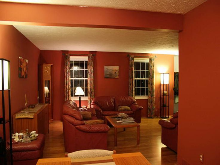 Home design and interior design gallery of best living room colors dark orange colour for Colour designs for living room