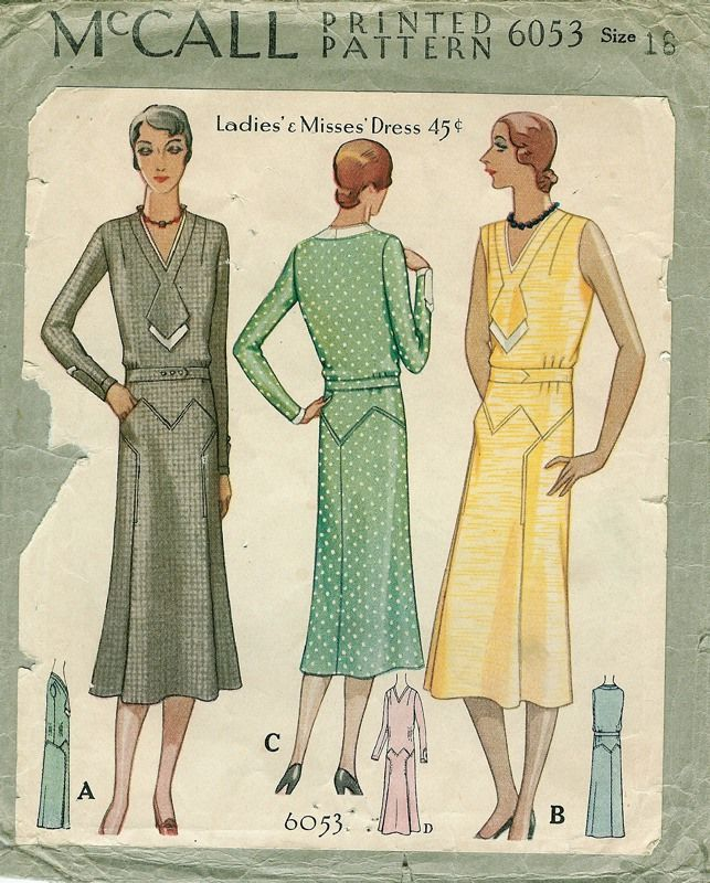 Patterns - Women's Dresses - Daytime 1929