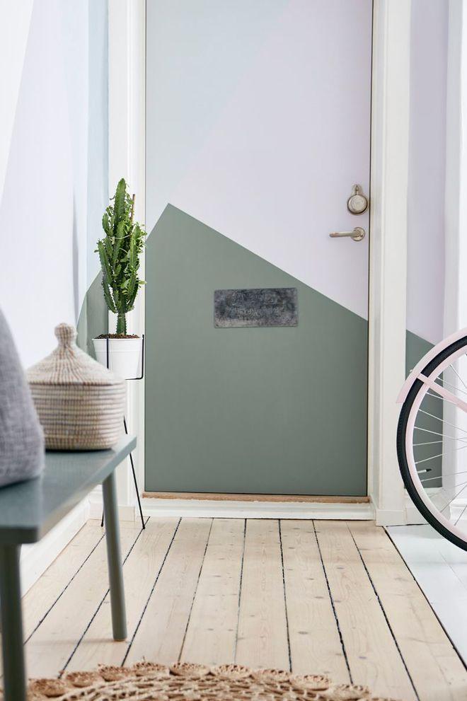 Peindre une porte : idées de couleurs | DÉCO | Hall d\'entrée ...