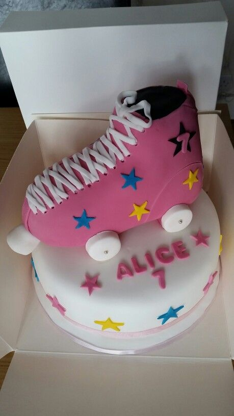 Roller Boot Birthday Cake