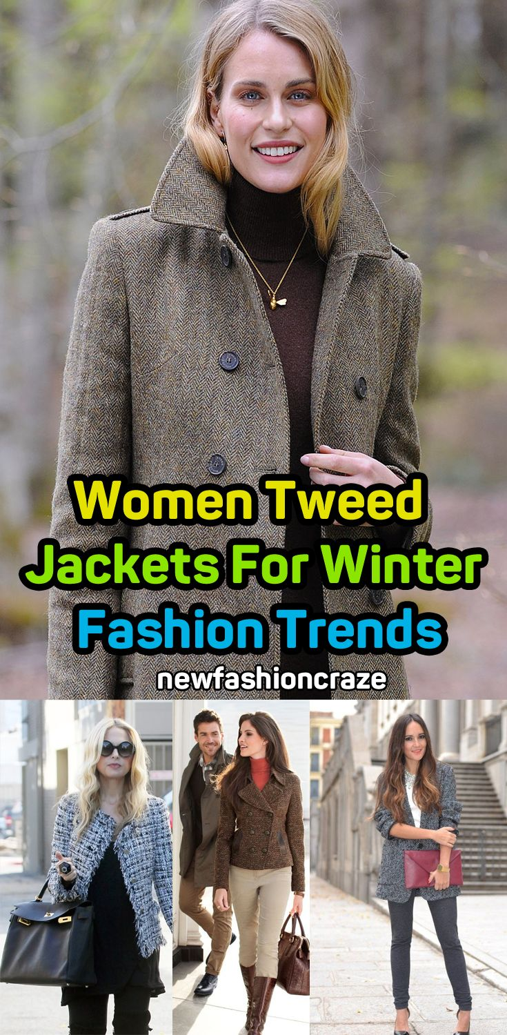 Women Tweed Jackets For Winter 2018 Fashion Trends  #fashion