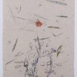 Omar Galliani Nuovi Fiori 2 Inks on indian paper mounted on canvas 79.5 x 60 cm  in Mauritius