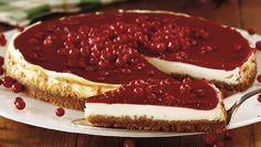 Cheesecake med lingon och pepparkaka – recept