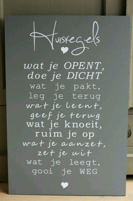 Huisregels ...