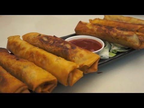 Paano magluto Lumpiang Togue Recipe Pinoy Tofu Spring Rolls Tagalog Fili...