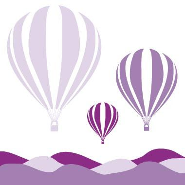 Hot Air Balloons Stretched Print