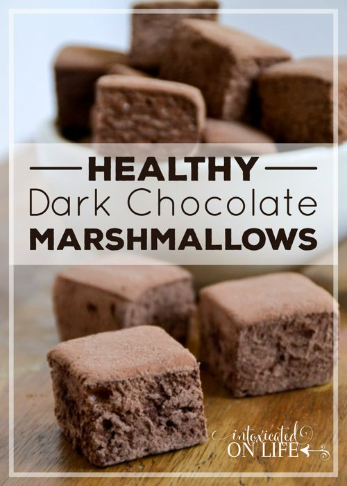 Kick your summer s'mores or homemade hot cocoa up a notch withthese HealthyDark Chocolate Marshmallows! All the chocolate things. It's no…