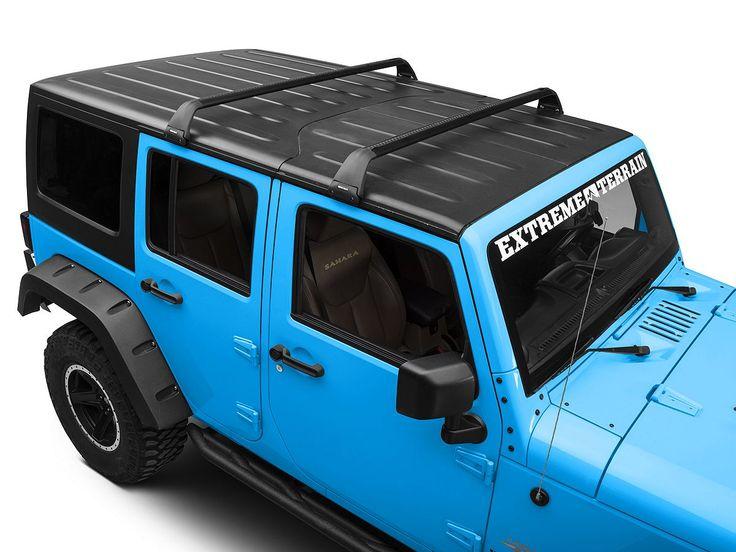 RhinoRack Jeep Wrangler Vortex SG 2 Bar Roof Rack; Black