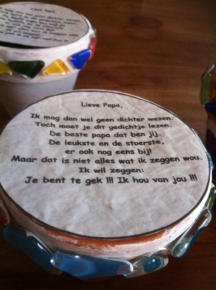 Gedichtje geprint op 'zaadjespapier'