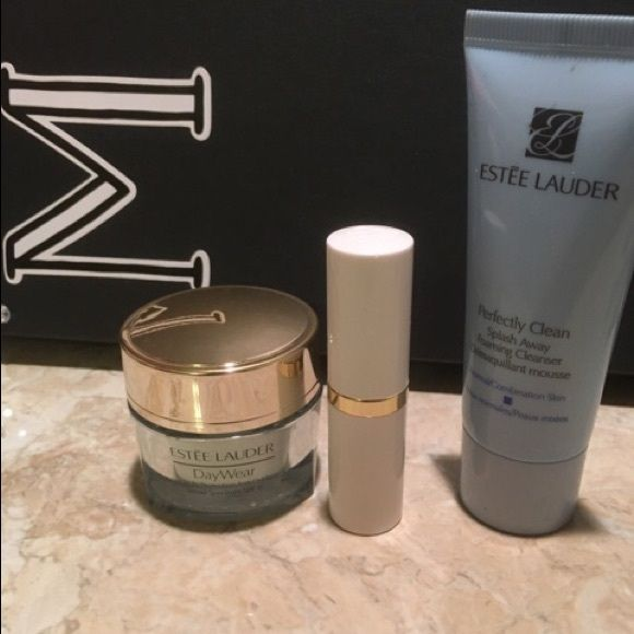 ESTÉE LAUDER MAKEUP BUNDLE This bundle includes 1 Estée Lauder day wear cream, 1 Estée Lauder foaming cleanser and 1 Estée Lauder lipstick in sugar honey shimmer! These are all new so feel free to make me an offer!! Estee Lauder Makeup