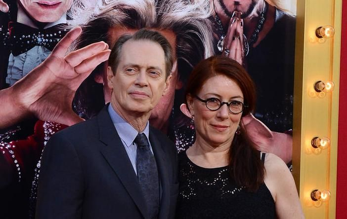 """Steve Buscemi, a cast member in the comedy """"The Incredible Burt Wonderstone"""", attends the premier with his wife Jo Andres, at the TCL Chinese Theatre in 2013. UPI Photo"""