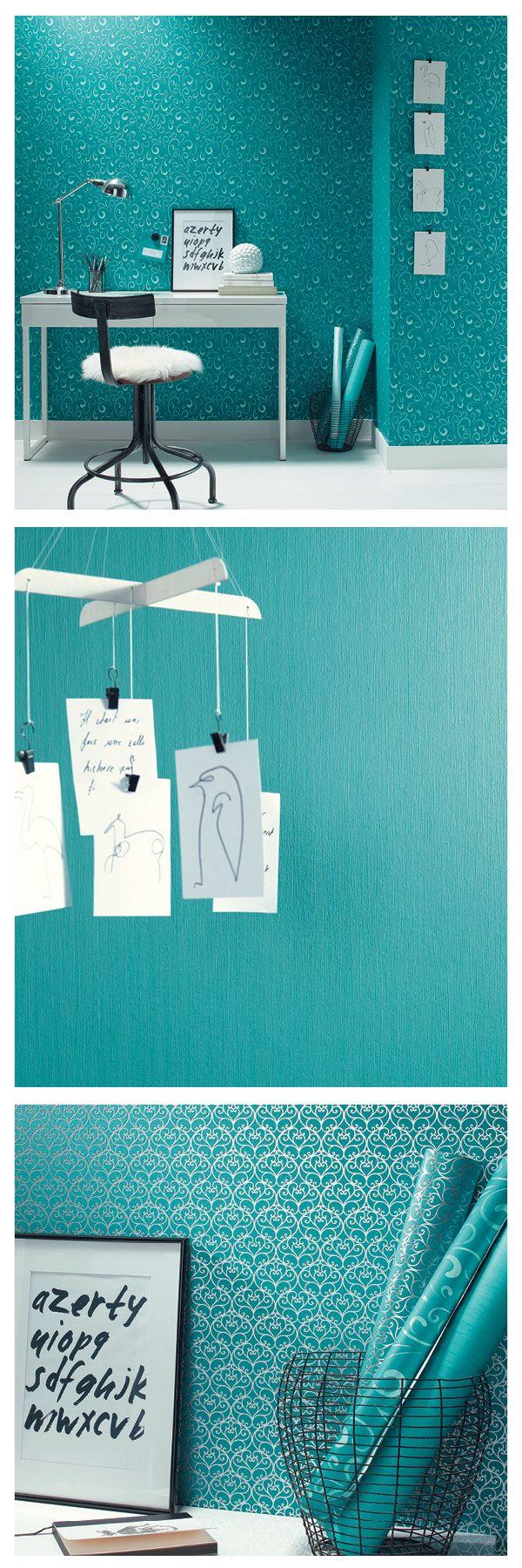 De nieuwe collectie POWER van Caselio is binnenkort in onze webshop verkrijgbaar. Ook de kleur van het jaar #Teal vind je hierin terug. Als je alvast door het boek wilt bladeren kom dan langs in de winkel. www.verfenwand.nl/assortiment/behang