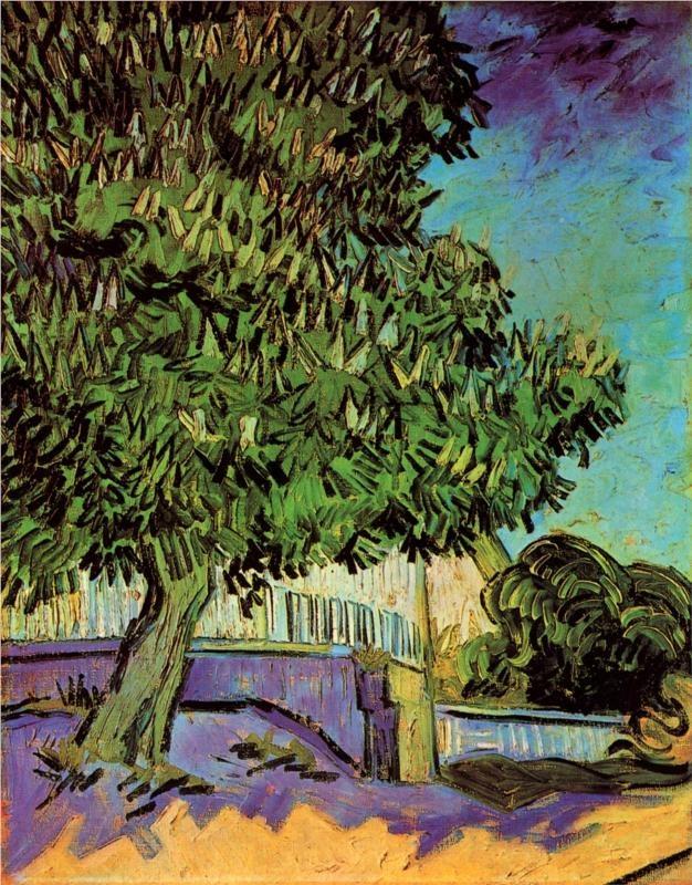Chestnut Tree in Blossom, 1890 Vincent van Gogh