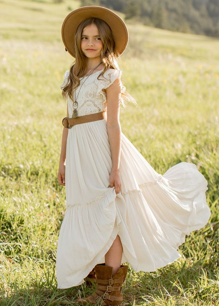 New macy dress in cream flower girl dresses boho macy