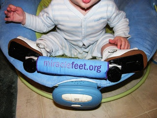 So awesome!  Cason's mom got him a miraclefeet.org bar bumper!!!  Her blog has great tips.