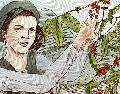 """Check out new work on my @Behance portfolio: """"Coffee Label illustration """"gadis Desa"""""""" http://on.be.net/1xClm4d"""