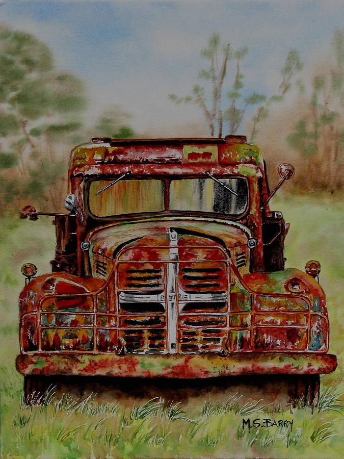 Rusty Crusty Painting by Maria Barry - Rusty Crusty Fine Art Prints and Posters for Sale