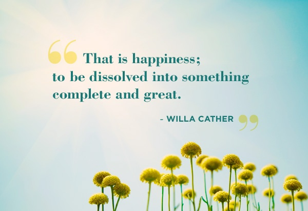 Willa Cather, favorite quote of any book, ever