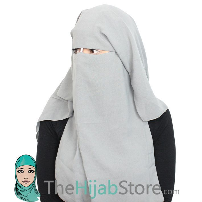 TheHijabStore.com - One Piece Three Layer Saudi Style Niqab Muslim Face Veil With Satin Cord, $16.99 (http://www.thehijabstore.com/one-piece-three-layer-saudi-style-niqab-muslim-face-veil-with-satin-cord/)
