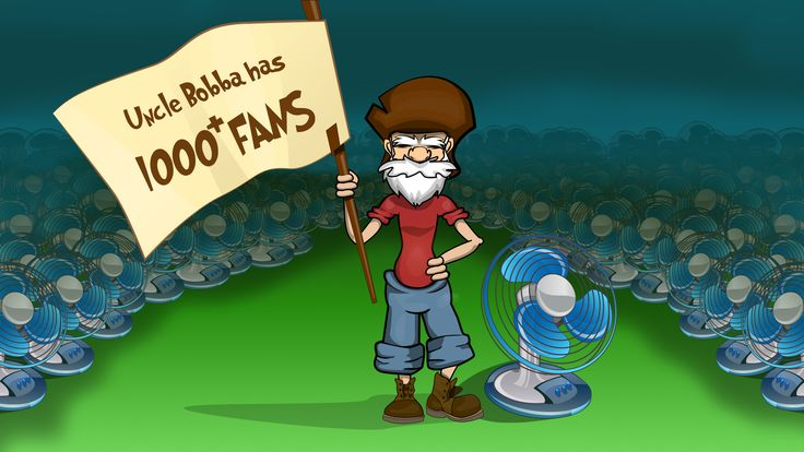 "The post we had when""Get Off My Lawn - With Uncle Bobba"" hits the milestone of 1000 fans on facebook."