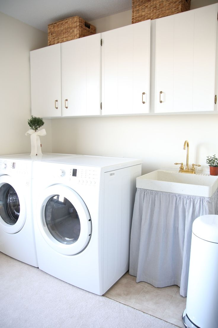 Simple & stylish laundry room ideas that add function & storage