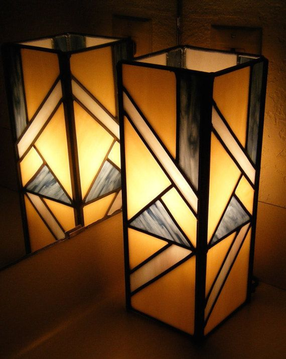 Antique Peach with Streaky Grey Opal Accents Stained Glass Pillar Lamp by Masterpiece Glass in Austin, TX