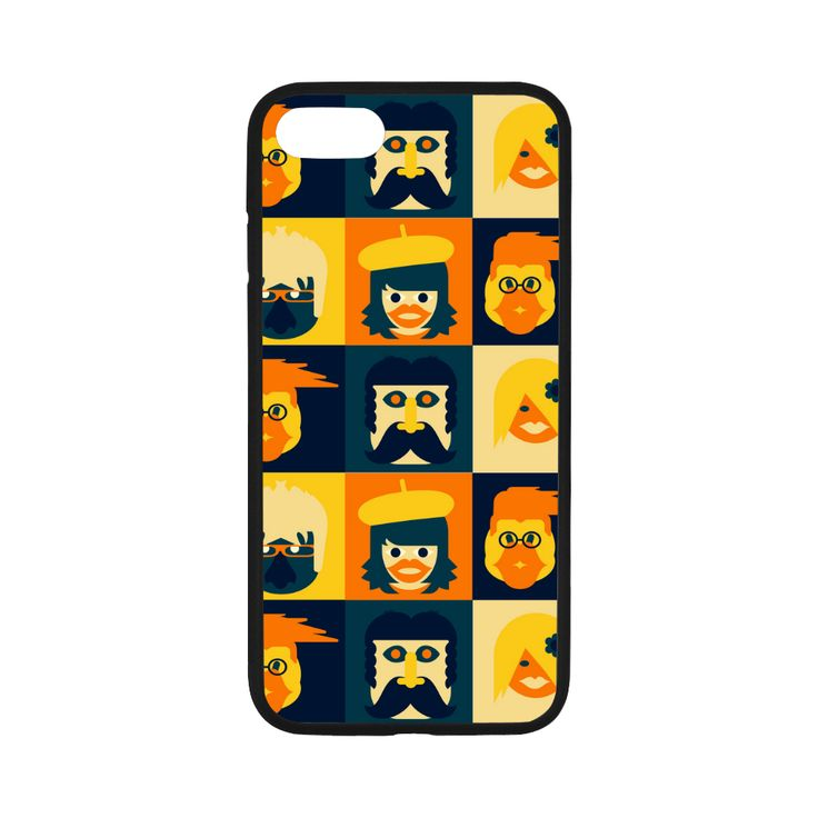 Funny Faces Rubber Case for iPhone 7 4.7""