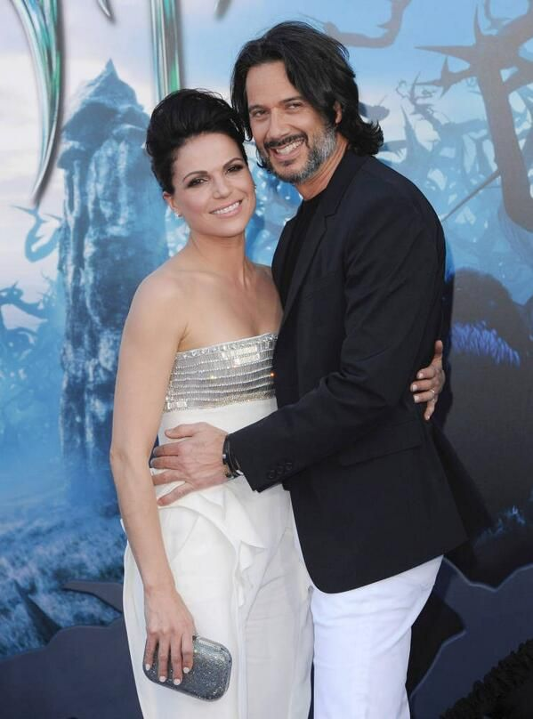 "Lana Parrilla & Fred Di Blasio attending World Premiere of Disney's ""Maleficent"" at the El Capitan Theatre on May 28, 2014 in Hollywood, California."