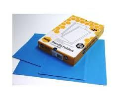 Marbig Manilla Folders Foolscap Dark Blue - box of 100. *Strong & Durable Manilla Board *Rounded Corners *Pre-creased spine and front page for increased capacity *Longer Back Page for Identification *Pre-Cut for fasteners.