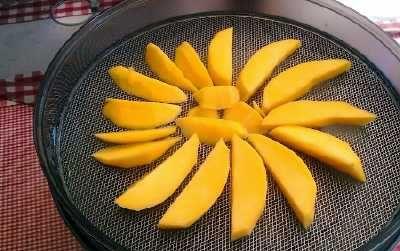 Rezept für gedörrte Mango. Mit dem Dörrgerät getrocknete Mango selber machen. Wir zeigen ihnen wie das am besten geht und auf was sie achten sollten.
