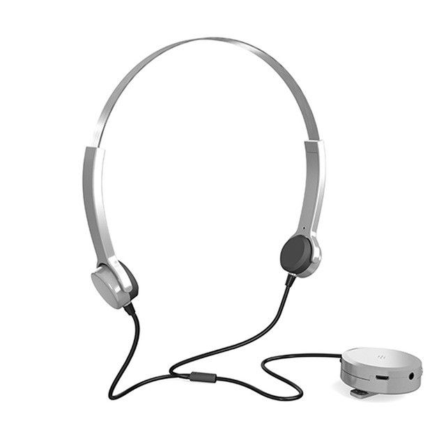 Hearing Aids Headphones Bone Conduction Earphone Audi phone Sound Pick-up AUX IN Black for Hearing Difficulties