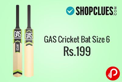 Shopclues is offering GAS Cricket Bat – Size 6 at Rs.199. Tennis ball Cricket Bat. Constructed from Popolar willow, this tennis ball cricket bat is lightweight and to be played with tennis cricket ball only. Features – High quality cricket bat made especially for tennis ball, Made of Selected willow, Idle for Juniors and Seniors. Shopclues Coupon Code – SC01ST50  http://www.paisebachaoindia.com/gas-cricket-bat-size-6-at-rs-199-shopclues/
