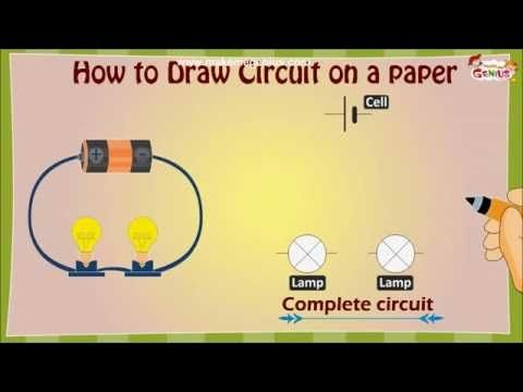 How to draw an Electric Circuit diagram for Kids - YouTube