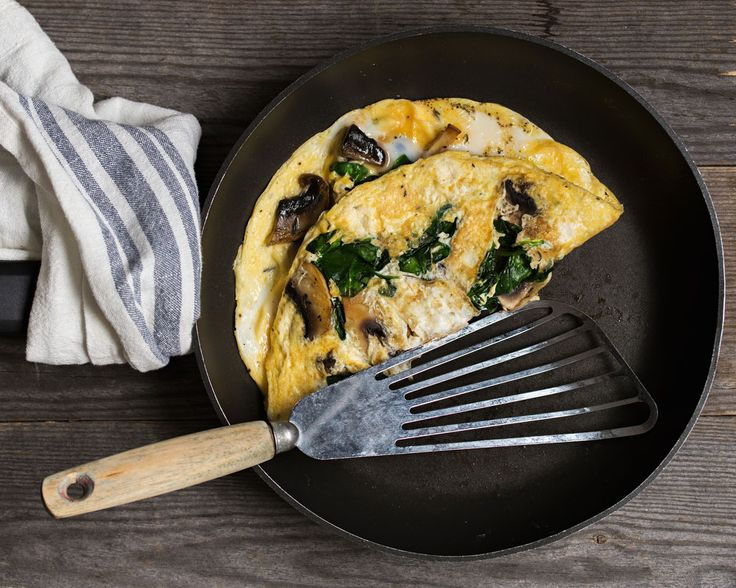 Omelettes, in general, are a no-fuss way to make breakfast, but you always need your go-to omelette. The spinach and mushroom omelette may very well be mine. Ingredients are easy to get during any season and your breakfast will be ready in no time at all!