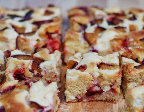 plum and cream cheese cake