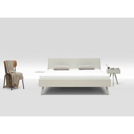 Loof Basket Holzbett weiß lackiert 180 x 200 cm Typ 1 - schräg stehend